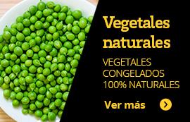 Vegetales naturales. Vegetales congelados 100% naturales. ver más